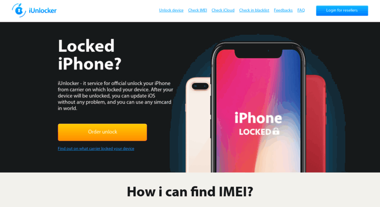 Access iunlocker net  Free iPhone IMEI checker carrier and unlock