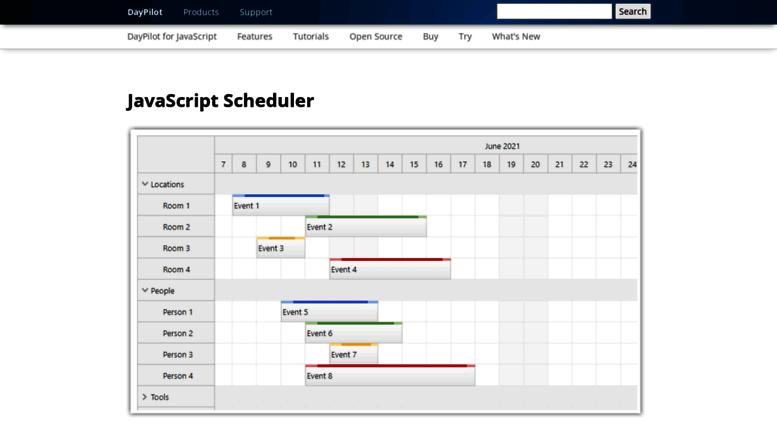 Access javascript daypilot org  DayPilot for JavaScript