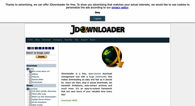 Access jdownloader org  JDownloader org - Official Homepage