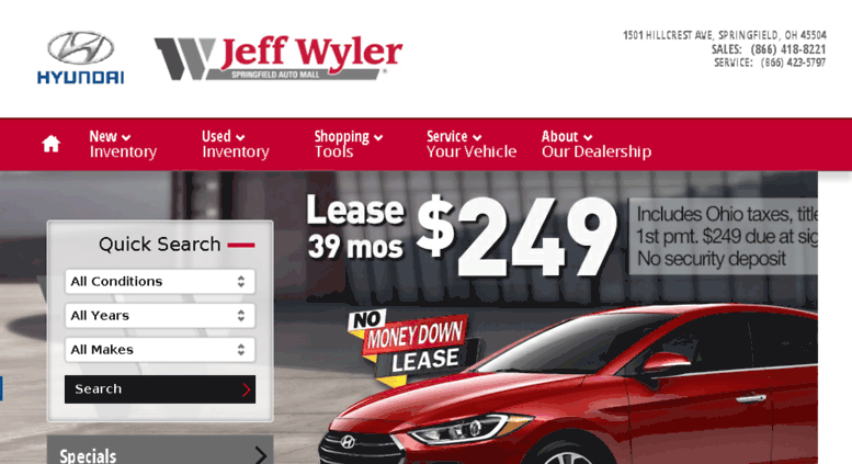 Jeff Wyler Springfield >> Access Jeffwylerspringfieldhyundai Calls Net Near Dayton