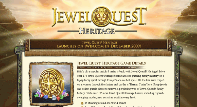 Access jewelquest4 com  Jewel Quest Heritage: iWin Games