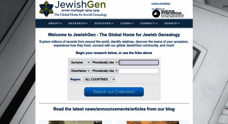 Access jewishgen org  JewishGen - The Home of Jewish Genealogy