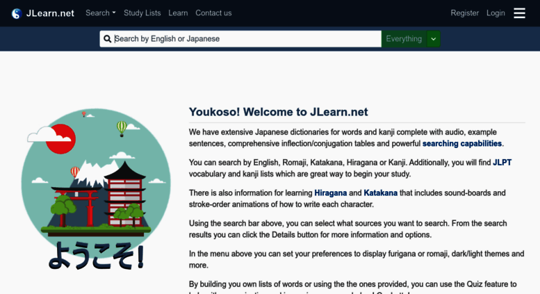 Access jlearn net  Learn Japanese - Japanese dictionary and Study