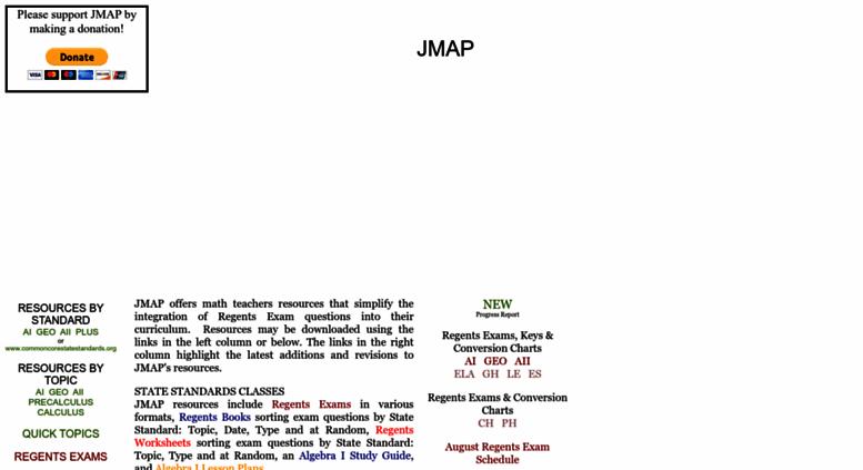 Access jmap org  JMAP HOME - Free resources for Algebra I