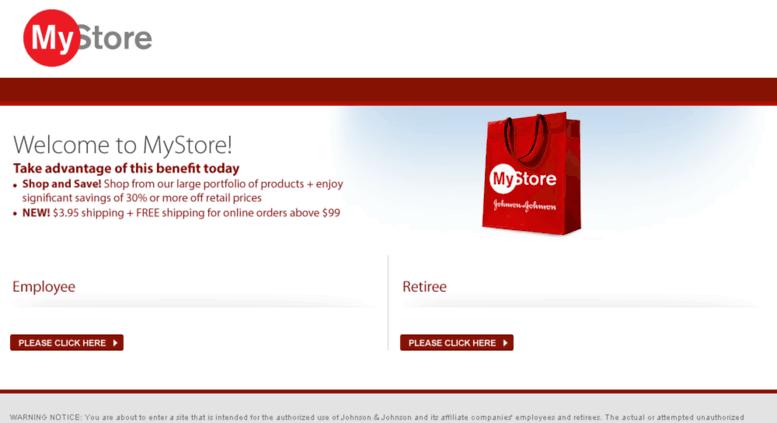 Jnj My Store >> Access Jnjestore Com Mystore For J J Employees Retirees