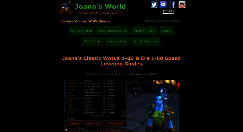 Wow Classic Joana Leveling Guide