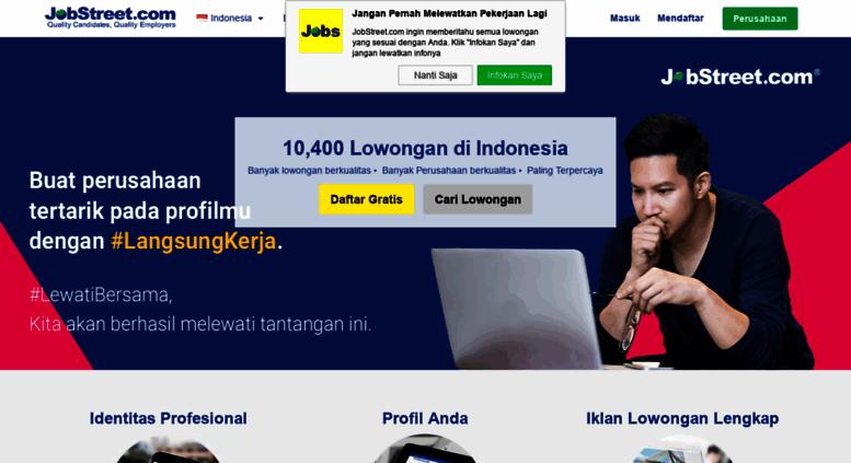 Access Jobstreet Co Id Lowongan Kerja Indonesia Lamaran Kerja