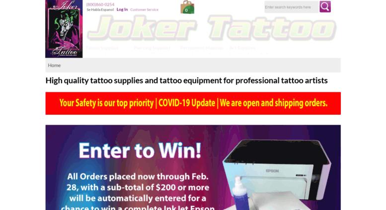 Access jokertattoo.net. Joker Tattoo Supply   Professional Tattoo ...