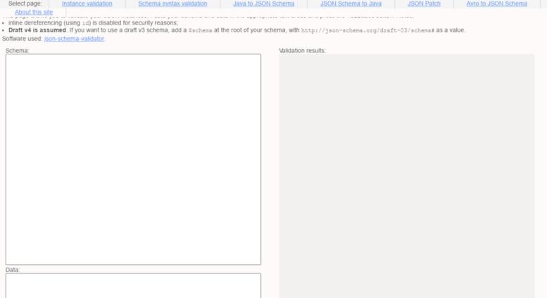 Access json-schema-validator herokuapp com  JSON Schema