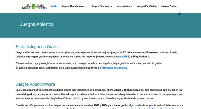 Access juegosabiertos com  JuegosAbiertos - Descargar Juegos