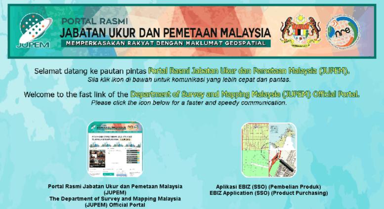 Access jujh gov my  Pautan Pintas Portal Rasmi Jabatan Ukur