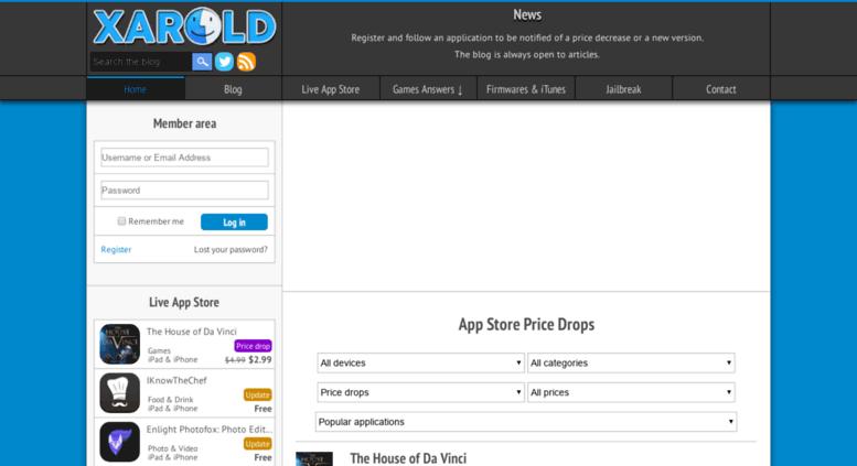Access julio xarold com  Xarold – L'actualité iPhone, iPad