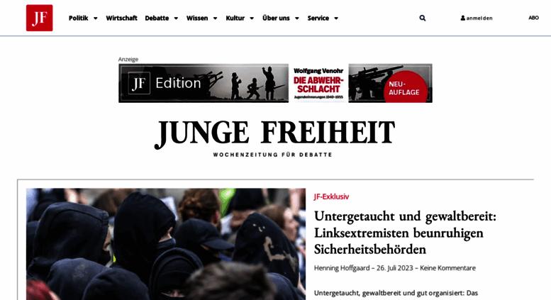 Access . JUNGE FREIHEIT – Wochenzeitung für