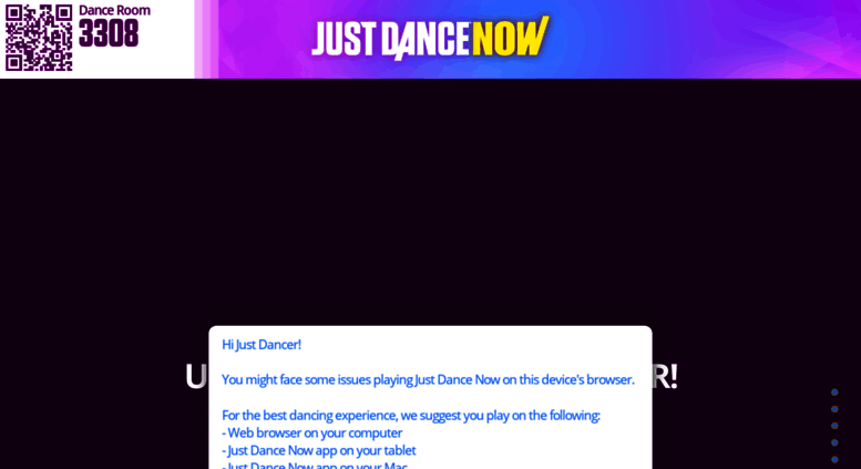 Access justdancenow com