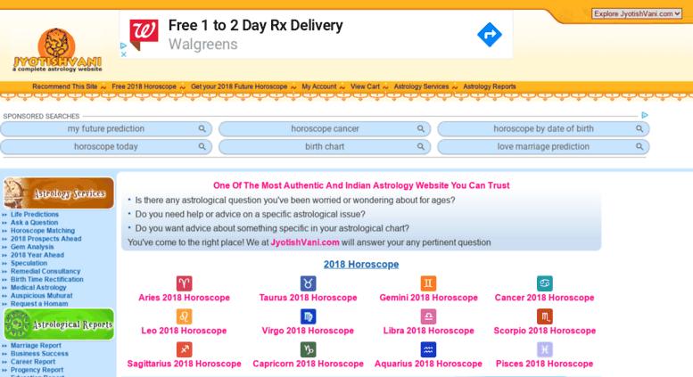 Access jyotishvani com  Vedic Astrology   Horoscope Services