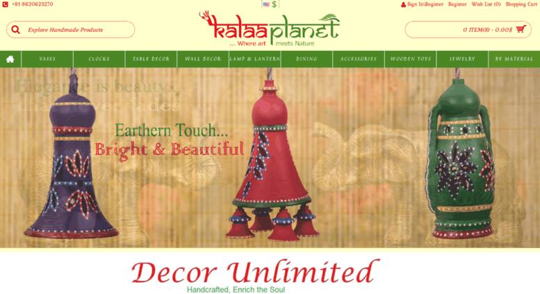 Access kalaaplanet com  Traditional Indian Decorative Items|Return