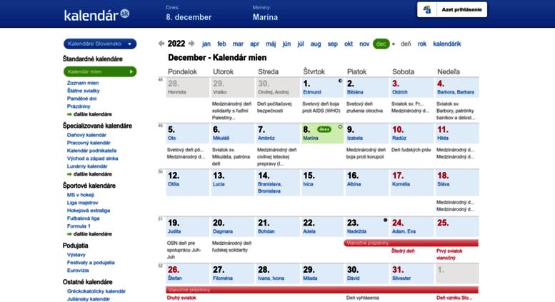 foto kalendar sk Access kalendar.azet.sk. Kalendár mien September 2018 | Kalendar.sk foto kalendar sk