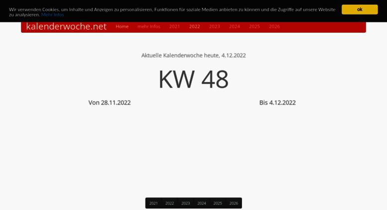 Access kalenderwoche.net. Aktuelle Kalenderwoche heute ...
