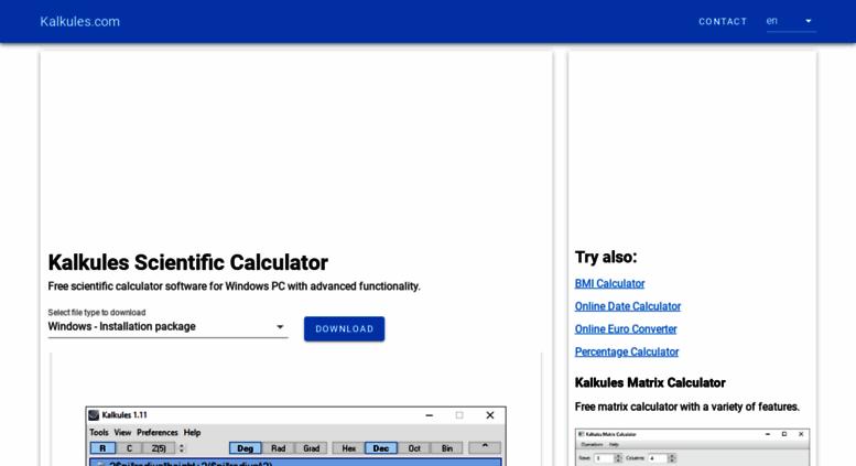 Access kalkules com  Kalkules - free scientific calculator