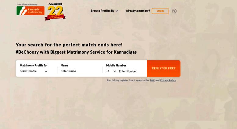 Kannada matrimony login
