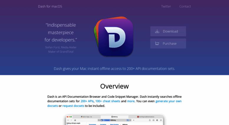Access kapeli com  Dash for macOS - API Documentation