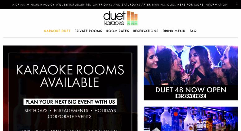 Access karaokeduet com  KaraokeDuet | Karaoke Duet is a