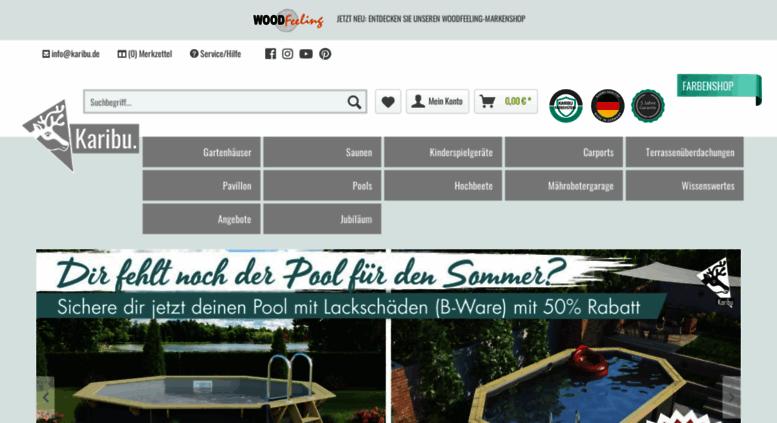 Access Karibu Gartenhaus De Karibu Gartenhauser Saunen Pools