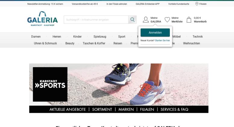 Sportartikel bei Karstadt Sports Sportbedarf online kaufen!