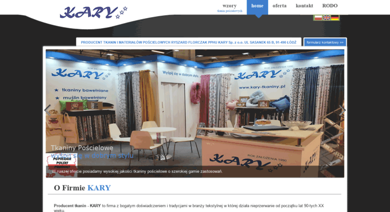 Fantastyczny Access kary-tkaniny.pl. Producent tkanin bawełnianych,tkanin WQ26