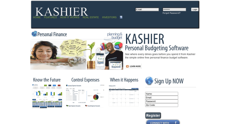 Access kashier co  Kashier | Free Personal Budget Software