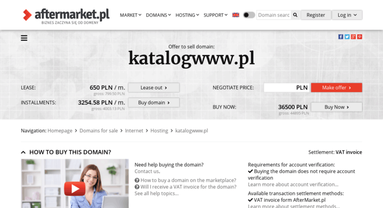 Access katalogwww pl  Offer to sell domain: katalogwww pl