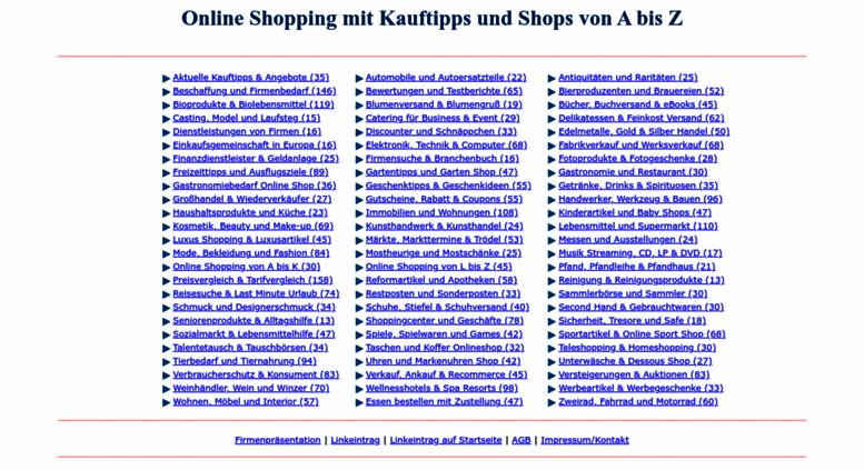 61ad703abe Access kauftipps.at. Online Shopping Portal, Einkaufsführer, Einkauf ...