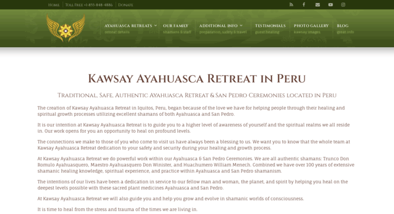 Access kawsayretreat com  Ayahuasca Retreat | Healing Kawsay