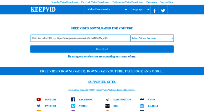 Access keepvid site  KeepVid YouTube Downloader [Official