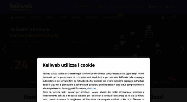 Access keliweb it  Hosting, Server Dedicati, Cloud, VPS, CDN