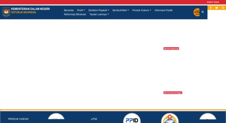 access kemendagri go id kementerian dalam negeri r i Struktur Organisasi Kemendagri kemendagri go id screenshot