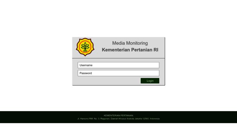 Access Kementanmonitoringwebid Login Media Monitoring