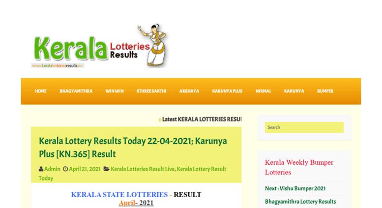 Access keralalotteriesresults org  LIVE:: Kerala Lottery
