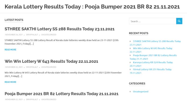 kerala lottery result