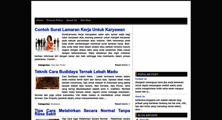Access ketikwww.blogspot.com. Kumpulan Info, Tips dan Tricks ...