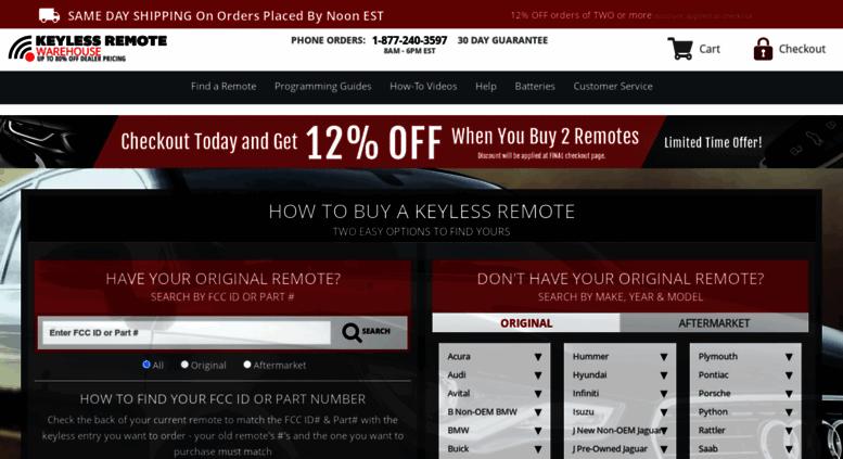 Access Keylessremotewarehouse Com Keyless Remotes Key Fob