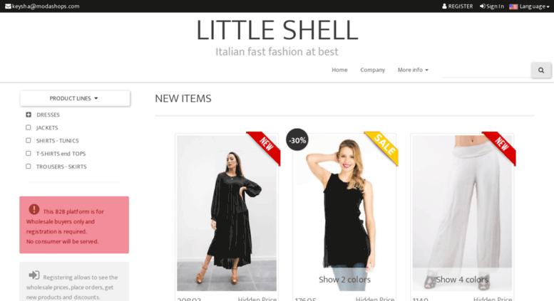Access keyshaprontomoda com  Italian clothing factory online
