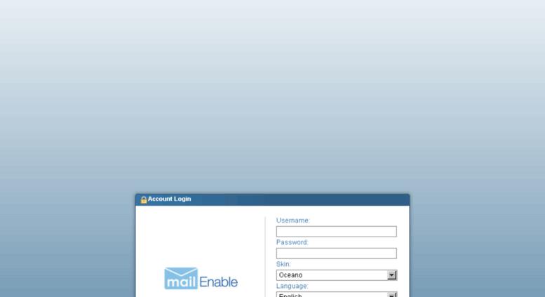 Access khsrcl com  MailEnable - Webmail
