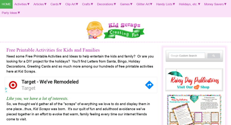 Access kidscraps.com. Free Fun Printable Activities for Kids ...