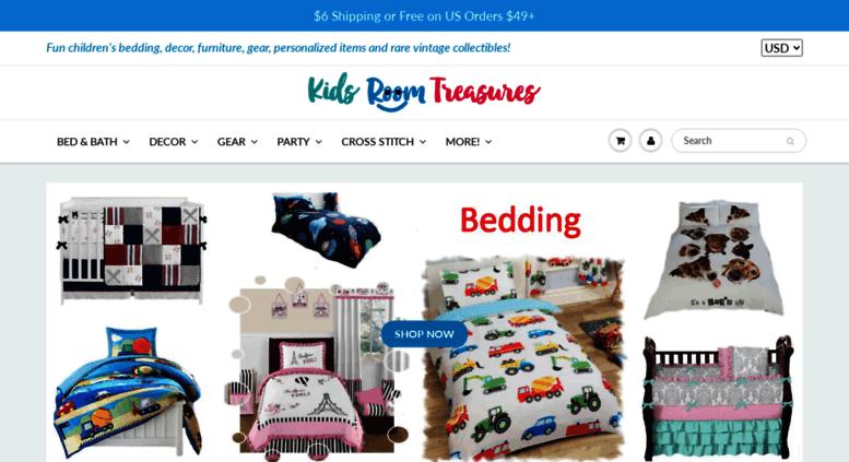 Kidsroomtreasures.com Screenshot