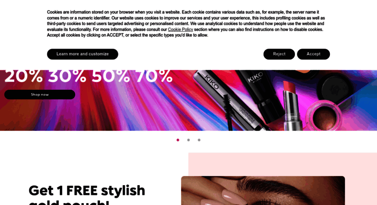 kikocosmetics.com screenshot