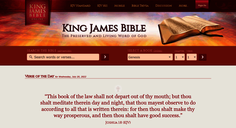 Access kingjamesbibleonline org  OFFICIAL KING JAMES BIBLE ONLINE