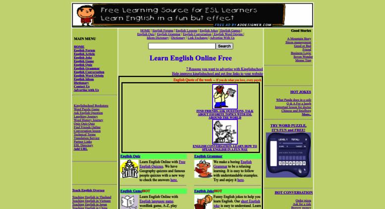 Access kinglishschool com  Learn English Online free (ESL