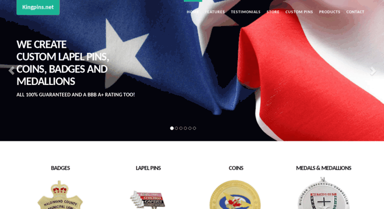 Access kingpins net  KingPins Custom Designed Service: Badges, Coins
