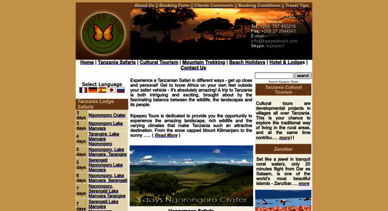 tanzania safari booking